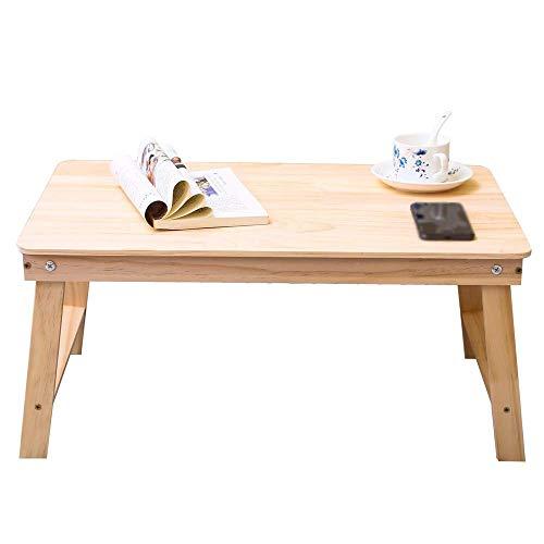 YO-TOKU Computer klaptafel Bamboo Opvouwbaar verstelbaar bed Tafel TrayCoffee/TV Desk Breakfast Dienblad Gaming Writing Laptoptafel (Kleur: Zwart, Maat: 60 * 40 * 28cm) Vouwtafels
