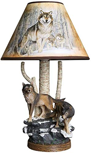Animal Wolf Resin tafellamp jongen Slaapkamer Bedlampje Creative Cartoon Light Bureaulamp