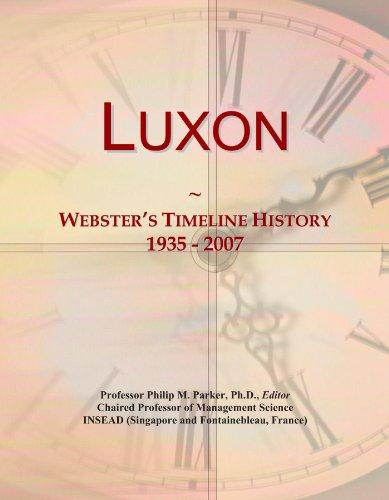 Luxon: Webster's Timeline History, 1935 - 2007