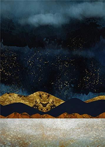 JHGJHK Póster de Paisaje de montaña Abstracto nórdico decoración del hogar Lienzo Pintura Pared Arte impresión Sol Imagen de Paisaje para decoración de Sala de Estar (Imagen 5)