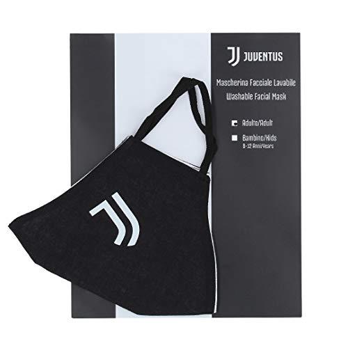 Juventus Mascherina Facciale Lavabile - 100% Originale - 100% Prodotto Ufficiale - Bramask - Uomo Taglia Unica