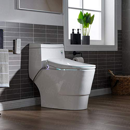 Woodbridgebath Woodbridge Luxury, Elongated One Piece Advanced Seat, T-0041, Bidet with Toilet