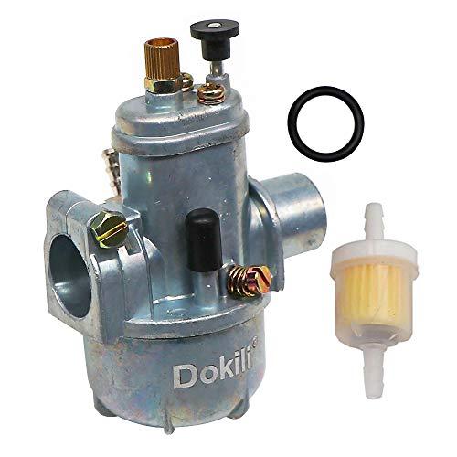 Dokili Tuning 15mm Vergaser für Zündapp Kreidler Hercules Sachs DKW Bing 15mm-1/15/46 2 Takt