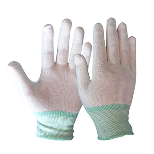Antistatische Handschuhe, LYPPP Electronic-Handschuhe Antistatische, staubfreie Dünnschliff-Strickhandschuhe Schutzhandschuhe tragen, WT