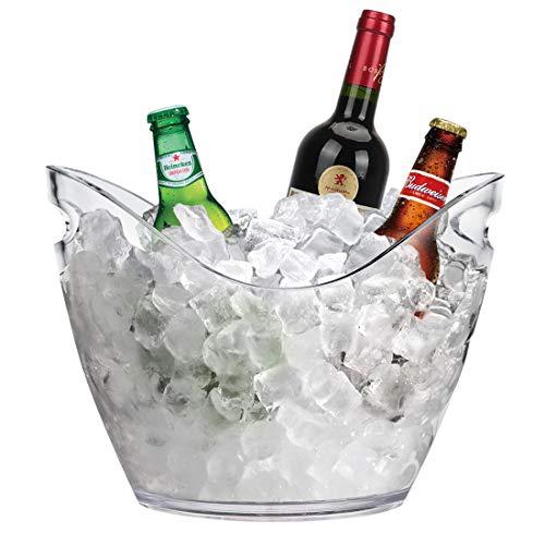 RERXN 4L Portaghiaccio Secchiello per Il Ghiaccio Secchio di Ghiaccio Secchiello ghiacci Secchiello per Champagne (trasparente)