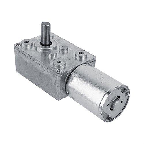 Akozon Motorreductor, Motorreductor de tornillo sinfín de alto par reversible, Motor de reducción CC 12V CW/CCW(62RPM)