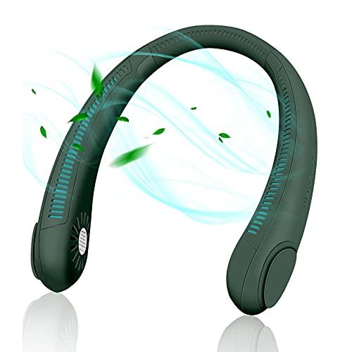 ATUIO - Mini Ventilador USB, Ventilador Portátil, [360° Ajustable], [3 Velocidades], Ventilador de Cuello USB para Senderismo, Deportes al Aire Libre, Viajes, Hogar, Oficina, Camping, [Verde]