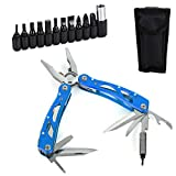 Multitool Pliers,15-in-1,Foldable,Pocket-size with Sheath,Pocket Multifunctional Multi Tool,for...