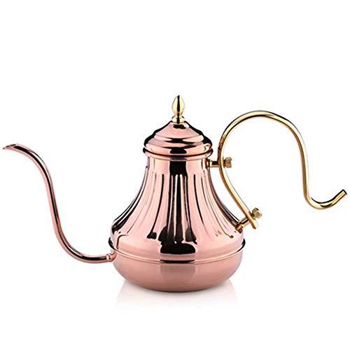 Langer Schmalmund Kaffeekanne Gießkanne Edelstahl Schwanenhalsauslauf Teekanne Tropfkanne Geeignet für Anfänger und Kaffee 260ml, 450ml, 650ml, eine breite Palette von Anwendungen