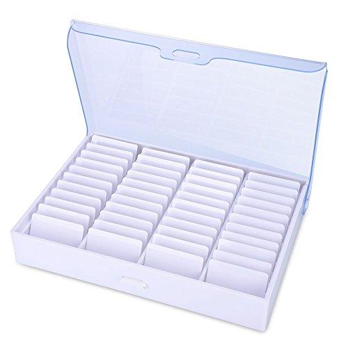 Boîte de rangement pour les ongles en plastique Transparent faux contenant pour les ongles pour le stockage des outils à ongles Petites pièces Perles Bijoux Organisateur Conteneur