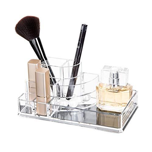LDG Cosmetische Lippenstift Organisator Display Stand - Helder Acryl - Voor het bewaren van nagellak Lippenstiften Borstels Sieraden Make-up