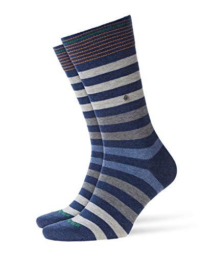 Burlington Herren Blackpool M SO Socken, Blickdicht, Blau (Dark Blue Melange 6688), 40-46
