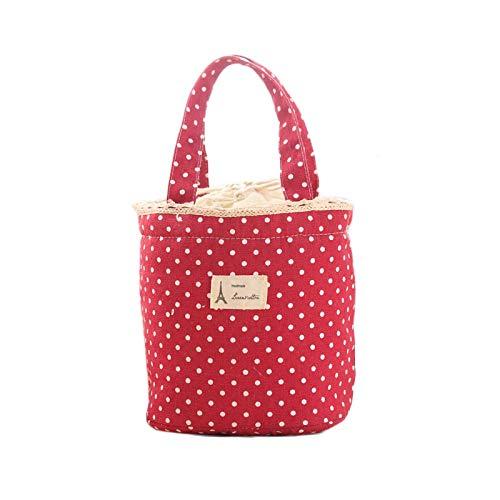 DAKERTA wasserdichte Picknicktasche Campingtasche Lunch Bag Mittagessen Tasche Kühltasche Thermotasche für Ausflug Camping Schule Büro (Rot)