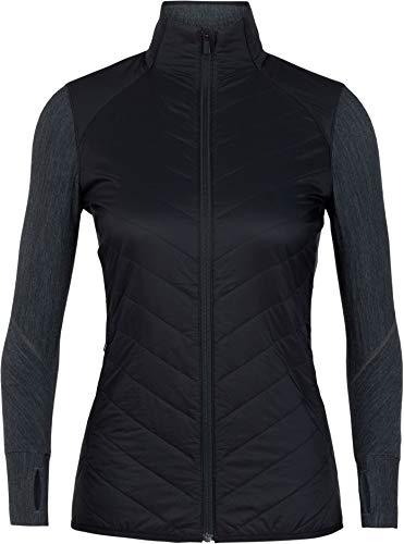 Icebreaker Descender Hybrid Jacket Women, Black/Jet Heather Modèle XL 2019 Veste