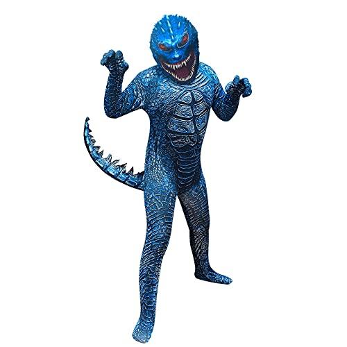 LHFD Costume De Monstre Godzilla pour Enfants, Costume d'halloween Godzilla Monster Costume de Noël pour Enfants Parfait pour Cosplay, Halloween, NoëL, Anniversaire