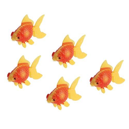 UEETEK 5 PC Plastikkünstliche Fisch-dekorative lebensechte Fische für Aquarium-kreative HauptPartei-Fisch-Behälter-Landschaftsverzierung