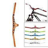 Yajun MTB Carbon Bicycle Manillar 620/720/760 / 800MM Integratived Colorful Strong Rise Bar para Mujeres Hombres