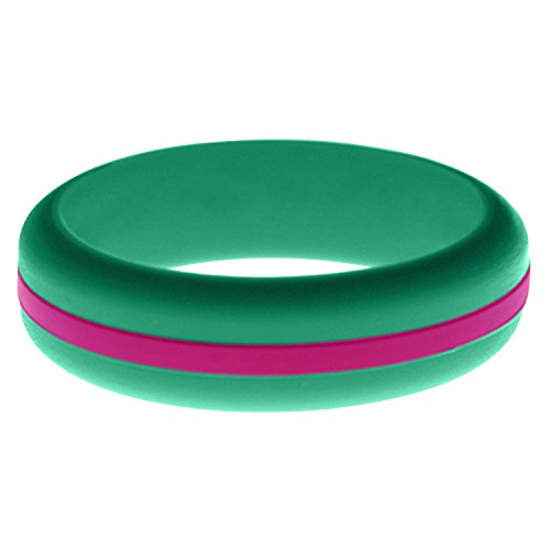 FLEX Ring - Womens Teal Silicone Ring - Changeable Color Bands - Many Colors -...