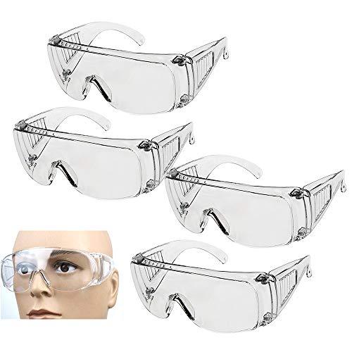 Skystuff 4 gafas de seguridad antivaho para protección de los ojos, gafas...