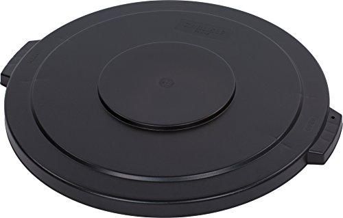 Carlisle 34104503 Bronco Round Waste Container Lid, 44 gal, Black