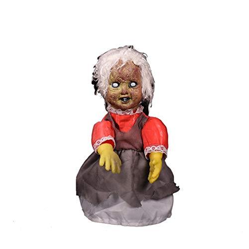 YA&NG Halloween gruselige Puppen Scary Ton Schlechtes Gehen Besessen Puppe Gruselige Prop Halloween-Geisterhaus-Dekorationen,B