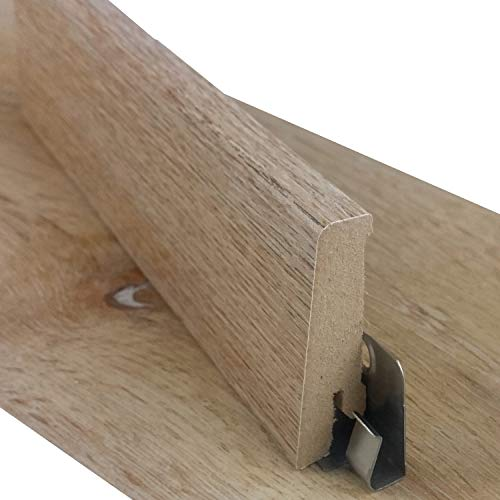 Sockelleiste für TRECOR® Klick Vinylboden - Länge: 240 cm - Höhe: 60 mm - Tiefe: 18 mm - WASSERFEST - (Sockelleiste   1 Stück, Eiche Gold)