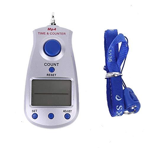 Podómetro Contador electrónico digital de 5 dígitos portátil con calendario de reloj y lanyard Manual Restablecer herramienta de relajación de descompresión rastreador de pasos ( Color : S )