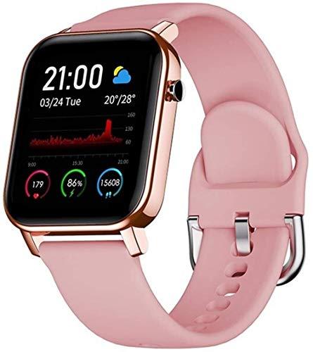 Reloj Inteligente Pulsera Monitor de Sueño de Ritmo Cardíaco IP68 ImpermeabilArmor 9 X7 Pro 7E X3 X5 6S 6E 5S Note 8P S11 Note 9P-Rosa