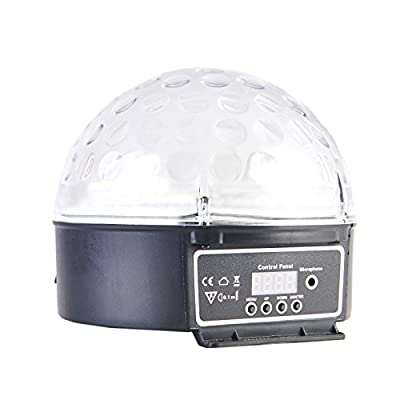 TOKUYI® Super Beautiful LED RGB Crystal Magic Effect Ball light DMX Disco DJ Stage Lighting Play and Plug for Disco Ballroom KTV Bar Stage Club Party