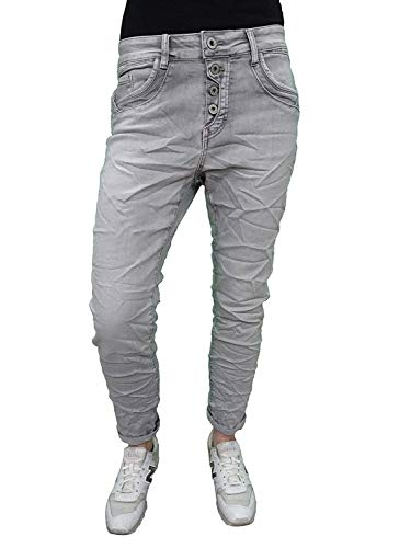 Karostar by Lexxury Denim Stretch Baggy-Boyfriend-Jeans Boyfriend 4 knopen knoopsluiting andere kleuren