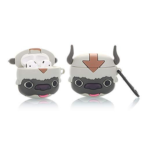 YIGEYI Silikon Hülle Kompatibel mit Airpods 1 & 2 Funny Cute 3D Cartoon Case Cover[Spiel-Cartoon-Animationsserie] (Appa)