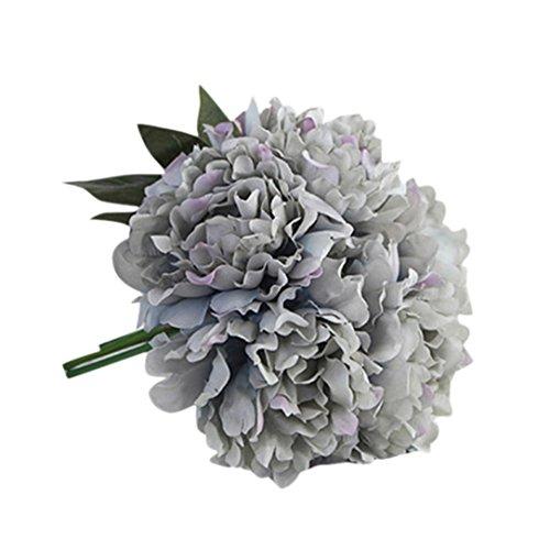 Hortensia artificial Winwintom con flores artificiales de seda para ramo de novia y decoración de boda