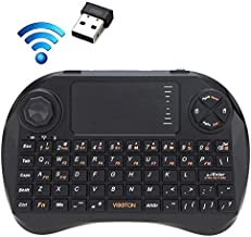 LYX X3 83-keys QWERTY 2.4GHz Mini Wireless Keyboard with Touchpad & 3 LED Indicator for PC/Pad/Android/Google TV Box / XBOX360 / PS3 / HTPC/IPTV(Black) High Qualuty