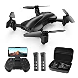 Holy Stone HS165 GPS FPV Drones with 2K HD Camera for Adults, Foldable Drone for Beginners with Auto Return Home, Follow Me, Circle Fly, Tap Fly, Includes 2 Batteries and Carrying Case