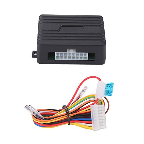 feeldo Universal Auto interruptor del elevalunas el/éctrico 3pcs Soporte /& mazo de cables con amarillo y verde luz 12/V//24/V