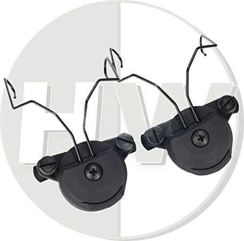 FMA Airsoft USSF Bump Helmet Rail Adapters Set Black for SORDIN Headset