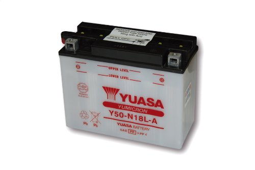 Motorize-YUASA Batterie Y50-N18L-A ohne Säurepack