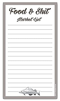 Food & Shit Grocery List Magnetic Groceries Market Pad 4.25 x 7.5 50-Sheets Funny Gift