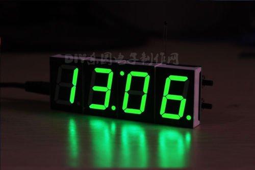 1 STÜCKE Grüne Digital LED Elektronische Mikrocontroller Uhr Bildschirmanzeige zeit NEU