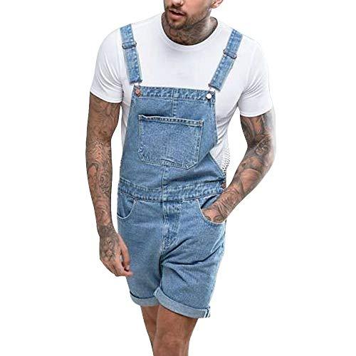 Dihope korte broek heren shorts vintage mode broek korte jeans met gaten scheuren vrije tijd pants casual denim overalls combinaties combishort capribroek