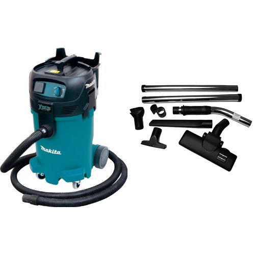 Makita VC4710 12-Gallon Wet/Dry Vacuum with Dust Extracting Flooring Set, 8-Piece