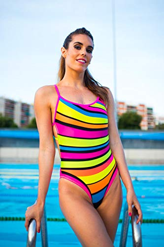 TAYMORY SW43 Bañador de Mujer Espalda Estrella Glitter by ONA Carbonell (XL)