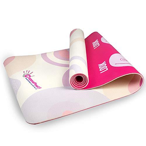 Myga RY1256 CoppaFeel! Yogamatte für die Retro Brust, Gymnastikmatte, rutschfeste Mehrzweck-Fitnessmatte