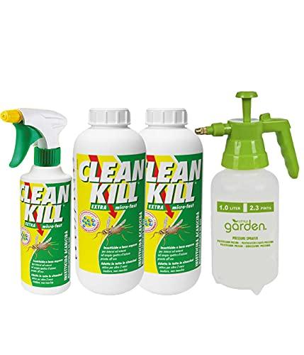 BIOKILL Set insetticida Ecologico-2 Confezioni bio Kill antiparassitario No Gas 500 ml - Ricarica bio Kill antiparassitario No Gas 1 lt più spira Girasole antimosche