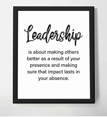 Leadership A Result of Your Presence Motivational Quotes Wall Art 8 x 10 Inspirational Poster product image