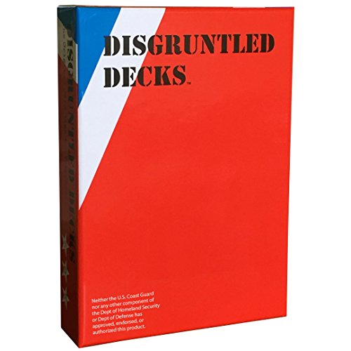 Disgruntled Decks - The Original Military Party Card Game for Veterans - Coastie-Themed Deck