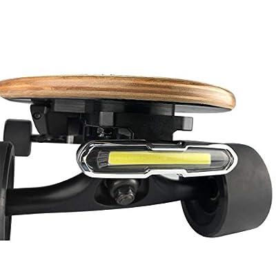 IWONDER V2.0 Skateboard Light Waterproof Brightness USB Rechargeable Safety Longboard Headlights or Tail Lights - Led Lights for Electric Skateboard Longboard