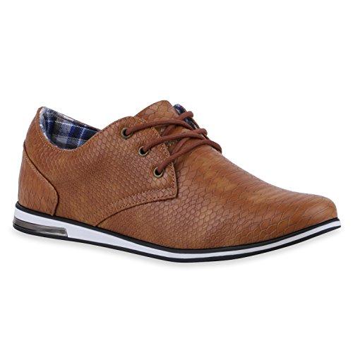 Stiefelparadies Klassieke Heren Instappers Elegant Sneaker Veters Lederlook Schoenen Modieus Bedrijf Veterschoenen