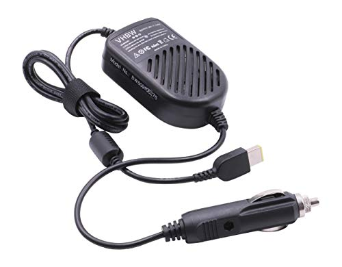 vhbw In-Car Charger compatible with Lenovo IdeaPad Flex 2 14, Flex 2 15, Flex 2 Pro Laptop, Notebook - Portable Charger 12V, 45W