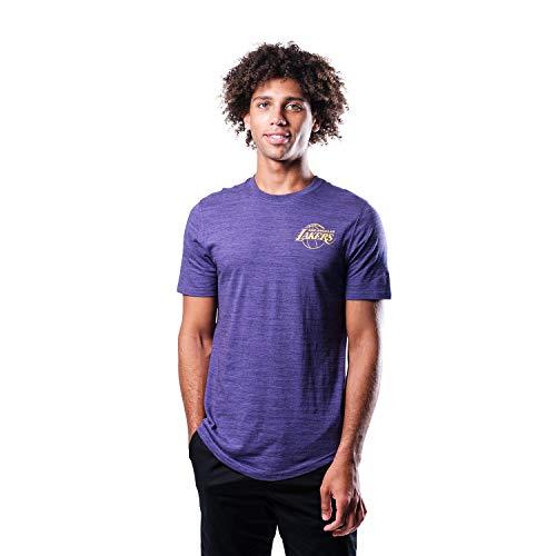 Ultra Game NBA Los Angeles Lakers Mens Space Dye Tee Shirt, Team Color, Medium